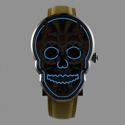 Часы вдохновленные мексиканским Днем Мертвых, от Fiona Krüger