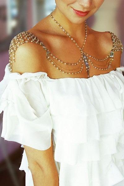 Свадебные украшения бохо цепочка