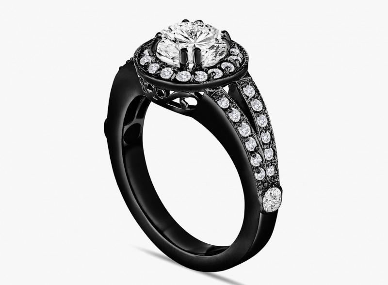 Кольцо из черного золота от Garo