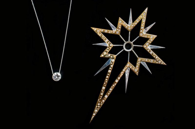 Драгоценная елочная звезда от 77 Diamonds