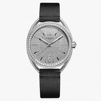 Часы из белого золота с бриллиантами из коллекции Liens de Chaumet