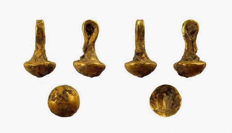 Золотой кулон, найденный в Болгарии