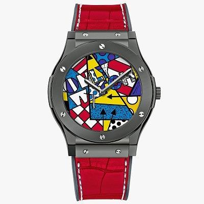 Часы Hublot Classic Fusion Britto, созданные с использованием эмалевой техники гран фё. Ориентировочная цена 76 800–115 200 евро