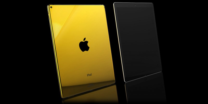 iPad Pro в золотом корпусе от Goldgenie