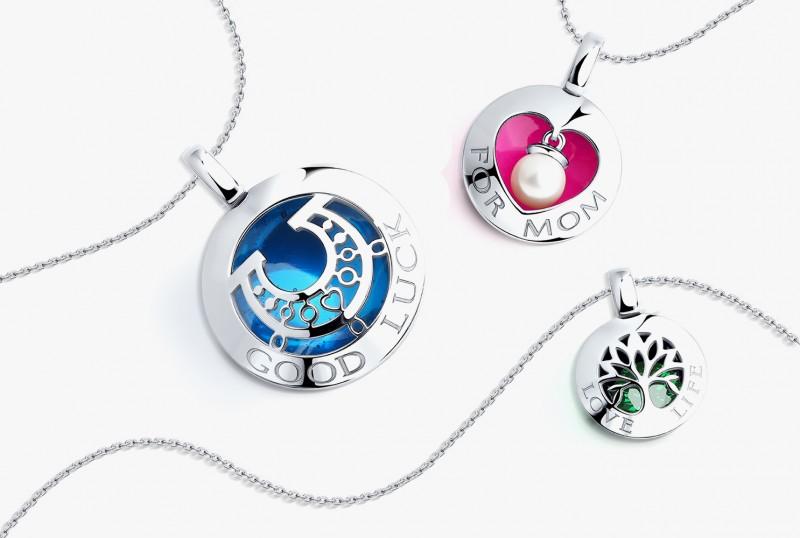 Серебряные подвески из коллекции «Счастье» от Sokolov