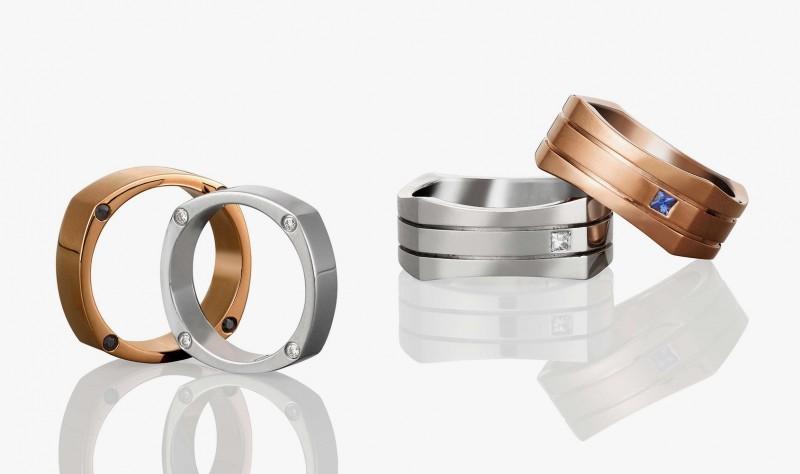 Мужские обручальные кольца из коллекции Mondial от Nadia Neuman