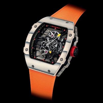 Часы Richard Mille RM 27-02 Rafael Nadal в корпусе из эксклюзивных материалов —TPT кварца и NTPT углеродного волокна. Ориентировочная цена 579 000–675 000 евро