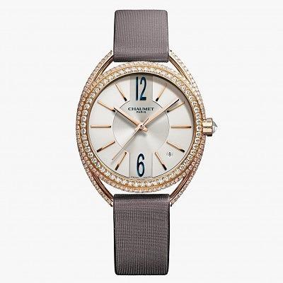 Часы из розового золота с бриллиантами из коллекции Liens de Chaumet