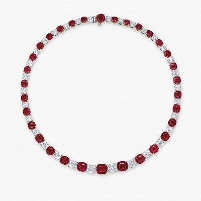 Колье с рубинами и бриллиантами из комплекта Mogok's Fiery Red от Fai Dee