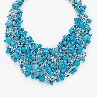 Колье с бирюзой, аквамаринами и бриллиантами из коллекции Tiffany Blue Book 2015 года