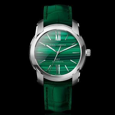 Мужские часы с малахитовым циферблатом от Dolce & Gabbana
