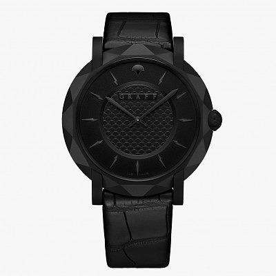 Часы GraffStar Slim Eclipse вид спереди