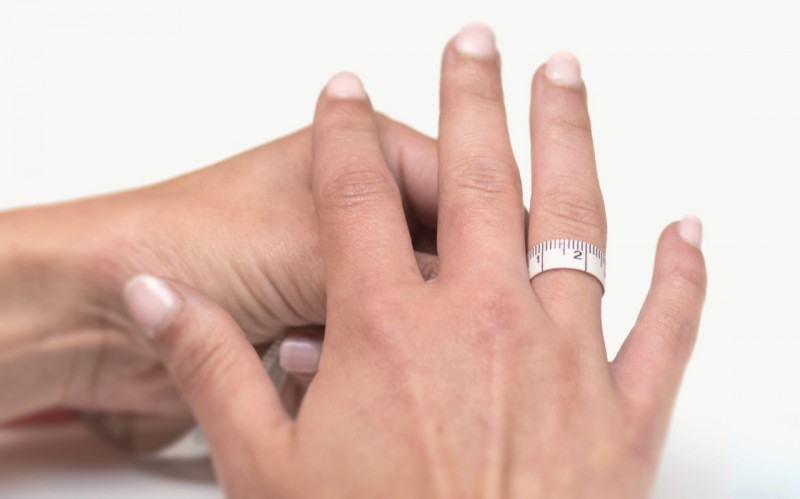 Определить размер кольца сантиметром