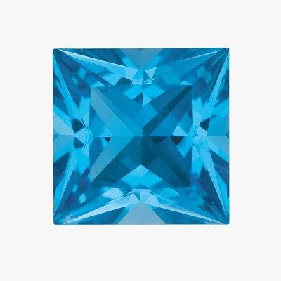 Топазы оттенка Swiss Blue
