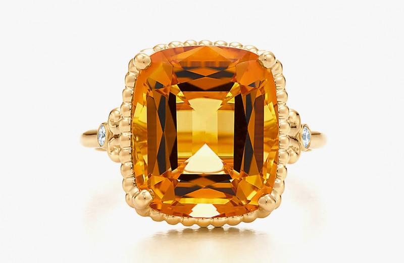 Кольцо с цитрином от Tiffany &Co.
