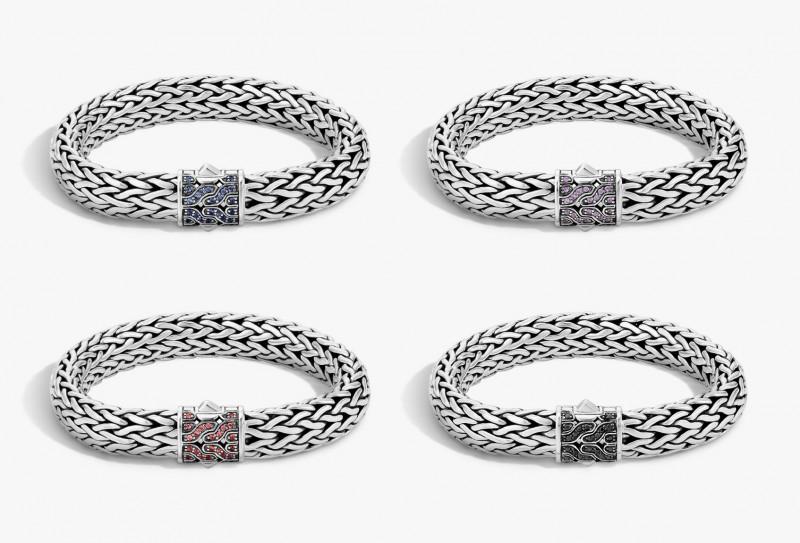 400 серебряных браслетов с сапфирами или рубинами. John Hardy 40th Anniversary Collection
