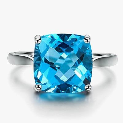 Кольцо с топазом Swiss Blue от Ilsommo