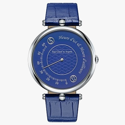 Часы Van Cleef & Arpels Heure d'ici & Heure d'ailleurs Only Watch. Ориентировочная цена 24 100–33 800 евро