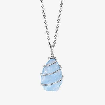 Подвеска с голубым топазом и бриллиантами от Kiki McDonough