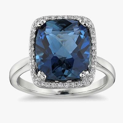 Кольцо с топазом London Blue от Blue Nile