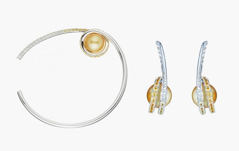Серьги и браслет с жемчугом Южных морей от Melanie Georgacopoulos