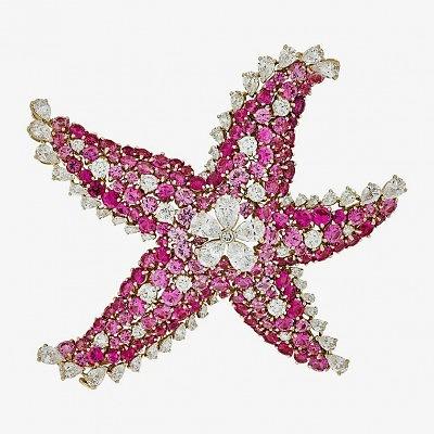 Брошь в виде морской звезды от Van Cleef & Arpels