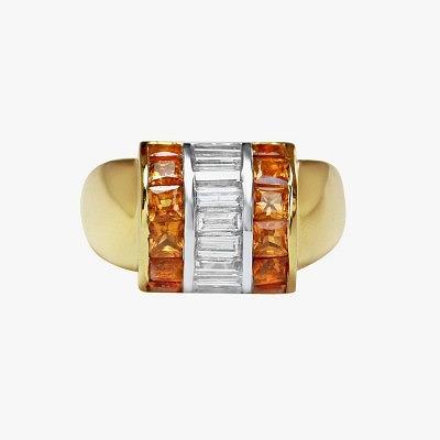 Кольцо с цитринами и бриллиантами от Gee Woods