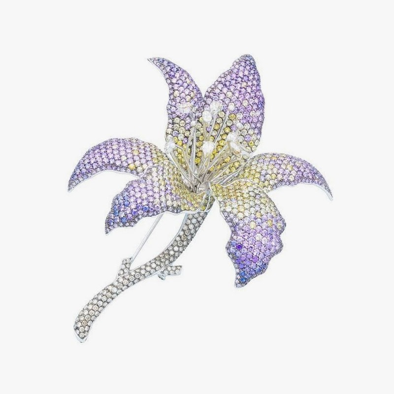 Брошь-орхидея от Damian By Mischelle
