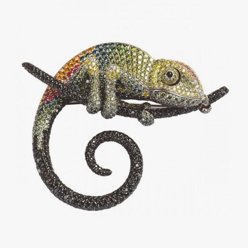 Брошь-хамелеон от Palmiero