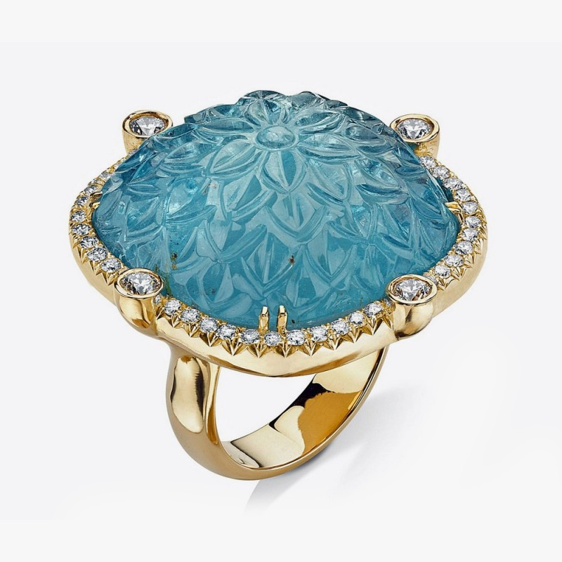 Кольцо из желтого золота от Pamela Huizenga