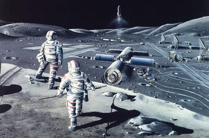 Work on moon