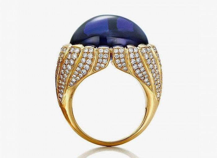 Кольцо Tiffany с танзанитом и бриллиантами из коллекции Blue Book 2015