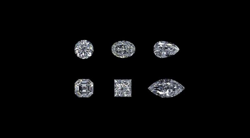 Бриллианты разной формы огранки из хлопушек