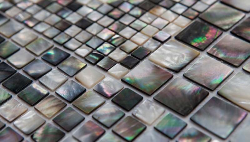 Разноцветные плитки из натурального перламутра