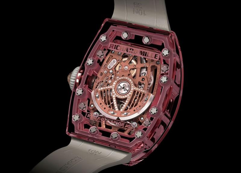 Часы Pink Lady Sapphire от Richard Mille, вид сзади