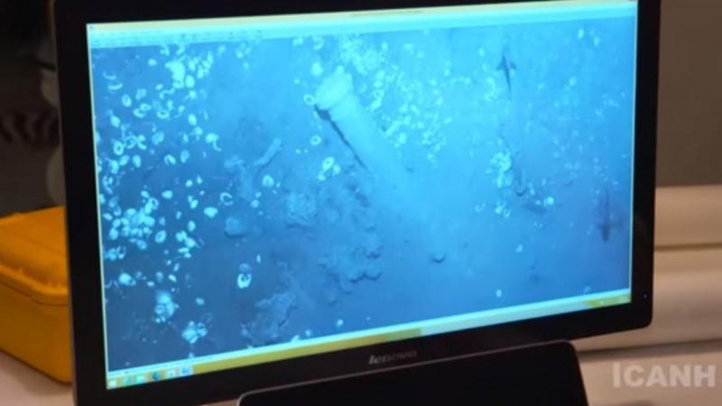Сотрудники Колумбийского Института Антропологии и Истории демонстрируют на видео бронзовые пушки, по которым исследователи узнали легендарный испанский галеон