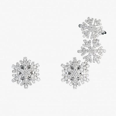 Серьги-снежинки от NOA Fine Jewellery: белое золото и бриллианты