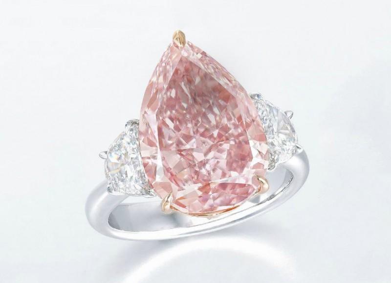 Кольцо с розовым бриллиантом 7,53 карата