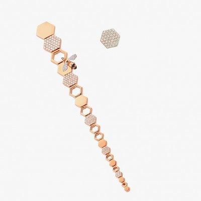 Асимметричные серьги из золота с бриллиантами от Bee Goddess