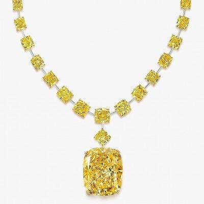 Колье Graff с желтыми бриллиантами и центральным бриллиантом Golden Empress весом 132 карата
