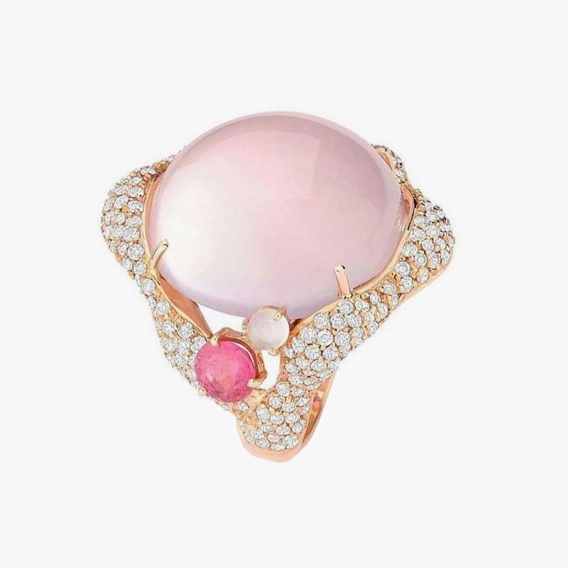 Кольцо из розового золота от Brumani