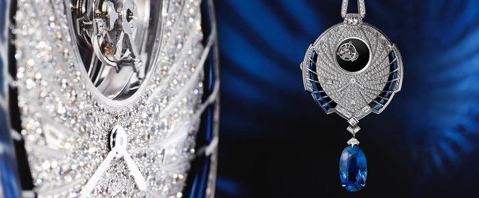Подвеска-часы Tourbillon Mysterieux Azure от Cartier
