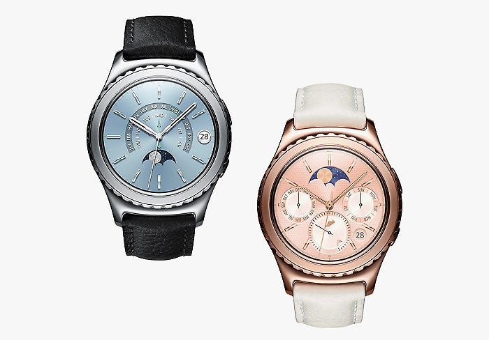 «Умные часы» Samsung Gear S2 в корпусе из платины и розового золота