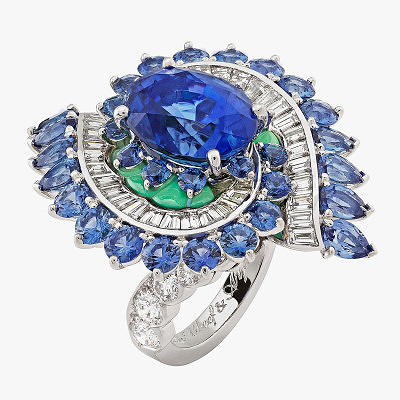 Кольцо с сапфирами и бриллиантами от Van Cleef & Arpels из коллекции Seven Seas