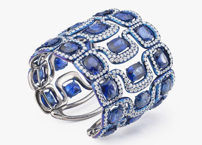 Титан, сапфиры, бриллианты. Glenn Spiro