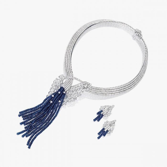 Комплект с сапфирами и бриллиантами от Van Cleef & Arpels