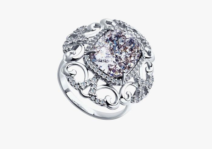 Кольцо из серебра SOKOLOV из коллекции Hollywood 94011944 (Custom)