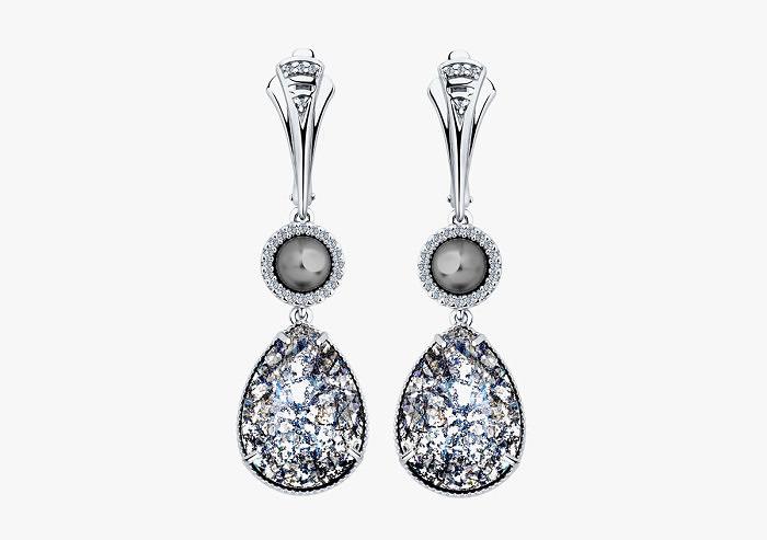 Серьги из серебра SOKOLOV из коллекции Hollywood 94022155