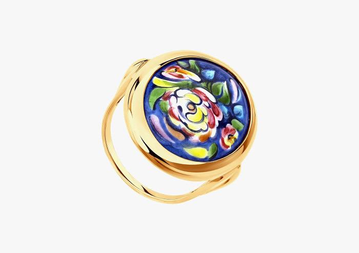 Кольцо из золота SOKOLOV из коллекции Romance 781002 (Custom)