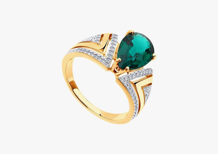Кольцо из золота SOKOLOV из коллекции To be queen 6017009 (Custom)